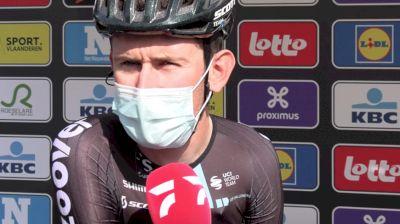 Tiesj Benoot Planning For Long-Range Attack At 2021 Tour of Flanders