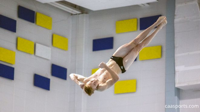 Bjugan & Clausen Take Home Golds To Close Out CAA Diving Championships