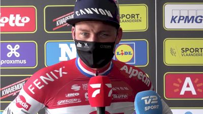 Mathieu van der Poel: Challenging Day At 2021 Tour Of Flanders