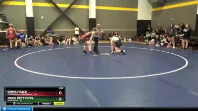 142 lbs Round 2 (3 Team) - Paige Peterson, Wisconsin vs Emma Peach, Potentially Dangerous