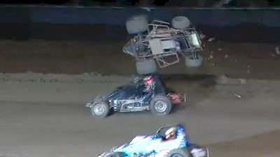 Austin Liggett Violent Tumble at Keller Auto Speedway