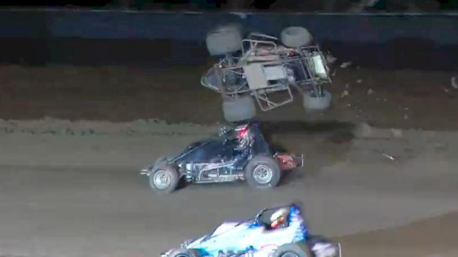 Austin Liggett Violent Tumble at Keller Auto Speedway