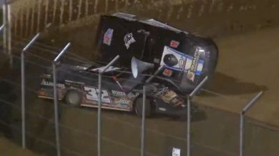 Ryan Gustin Rollover | MLRA Late Models Friday at 34 Raceway