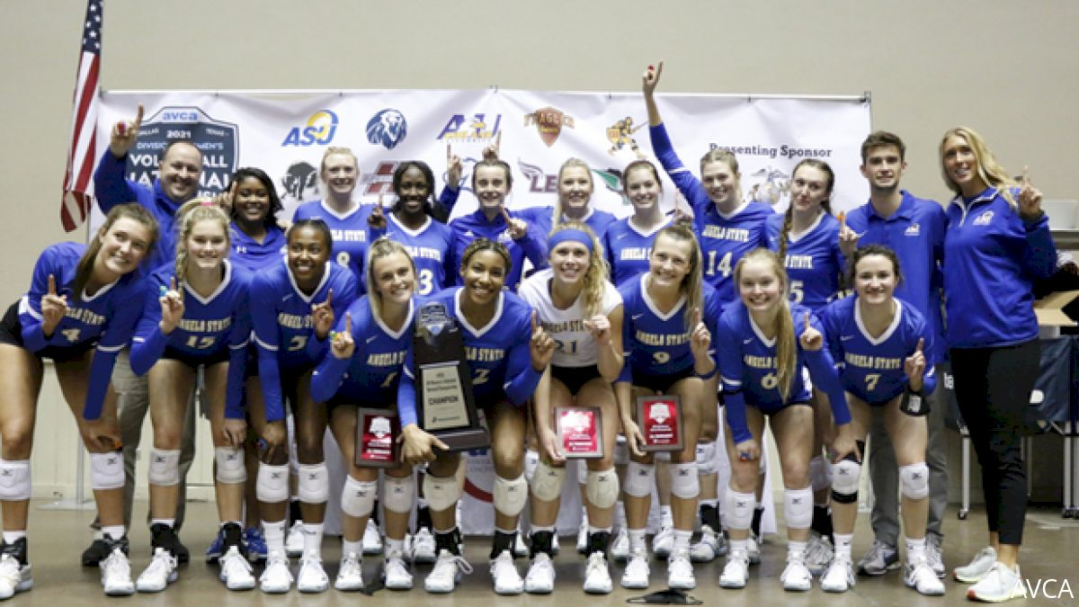 Angelo State Wins 2021 AVCA DII Women's Championship