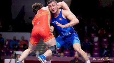 74 kg Semifinal - Razambek ZHAMALOV, RUS vs Tajmuraz SALKAZANOV, SVK