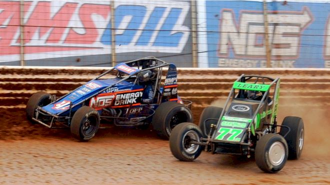 Leary Leads Ford to 1st USAC Sprint Win in a Decade