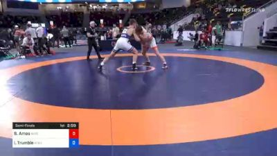 97 kg Semifinal - Braxton Amos, Wisconsin Regional Training Center vs Isaac Trumble, Wolfpack Wrestling Club