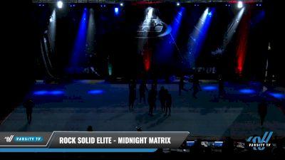 Rock Solid Elite - Midnight Matrix [2021 L5 Senior - D2 - Small Day 1] 2021 The U.S. Finals: Pensacola