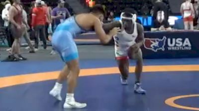 74 kg Consolation - Joshua Ogunsanya, New York City RTC vs Sonny Santiago, Tar Heel Wrestling Club