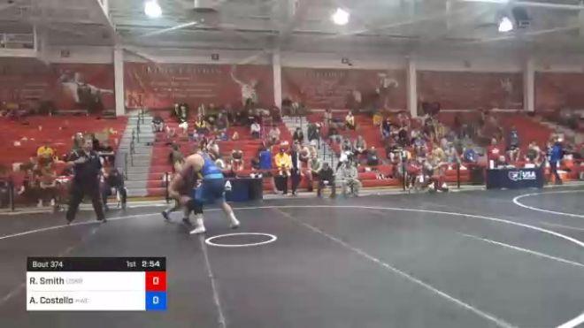 125 kg Prelims - Riley Smith, Navy-Marine Corps Mat Club vs Aaron Costello, Hawkeye Wrestling Club