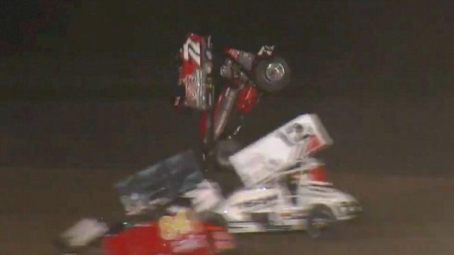 Alex Hill Scary ASCS Crash at I-96 Speedway