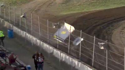 Allen Aldrich Backs into the Fence Hard at I-96 Speedway