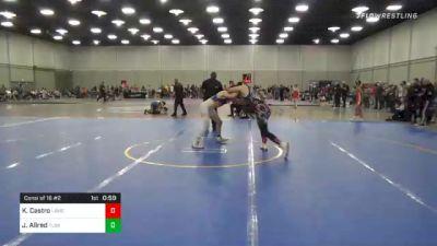 157 lbs Consi Of 16 #2 - Kristopher Castro, Lawc vs Jace Allred, Team Tulsa Wrestling Club
