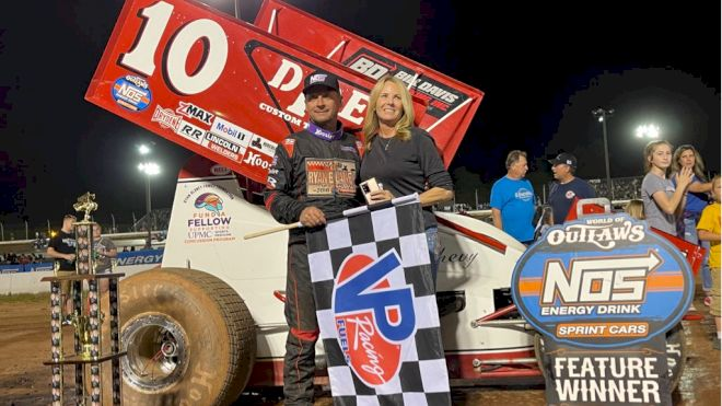 Dave Blaney Shocks And Marvels The World Of Outlaws At Sharon
