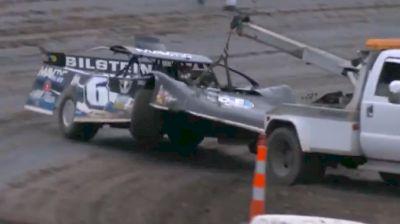 Kyle Larson and Tanner English Both Crash in Qualifying at Tri-City