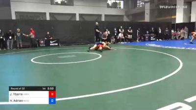 57 kg Prelims - Jesse Ybarra, Hawkeye Wrestling Club vs Hunter Adrian, Massachusetts