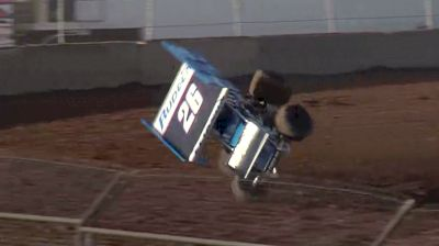 Cory Eliason Flips in Qualifying at the Plymouth Dirt Track