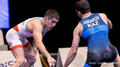 61kg Match - Nathan Tomasello, USA vs Adlan Askarov, KAZ
