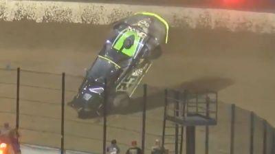 Jason Feger Huge Crash in Turn 1 at Eldora