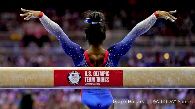 Biles Leads Women's AA Standings After Day 1 Of U.S. Olympic Team Trials