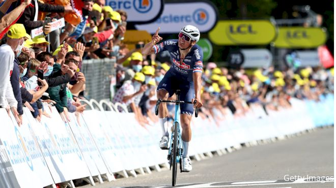 Van der Poel Settles Debt For Grandfather With Tour de France Yellow