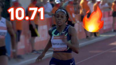 Elaine Thompson Beats Fraser-Pryce, Okagbare In INSANE 100m