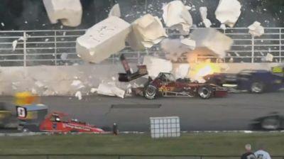 Big Supermodified Crash at Oswego