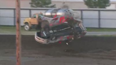 Wild Stock Car Flip at Boone County
