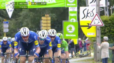 Mark Cavendish, Michael Matthews Battle For Stage 17 Intermediate Sprint - 2021 Tour de France