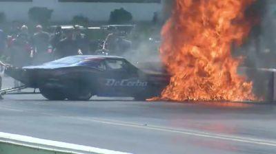John DeCerbo Fiery Crash at PDRA Summer Shootout