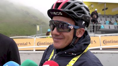 Richard Carapaz: 'After All The Work, I'm Happy With The Result' (SPANISH) - Stage 18 Of The 2021 Tour De France