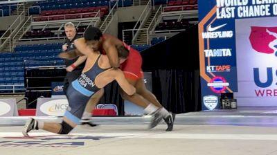 125 kg Final - Demetrius Thomas, Pittsburgh Wrestling Club vs Lucas Davison, Wildcat Wrestling Club