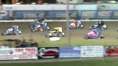 Feature Replay | USAC Midwest Midget Championship Saturday at Jefferson Co.
