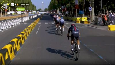 Richie Porte Nearly Dropped On Stage 21 - 2021 Tour de France