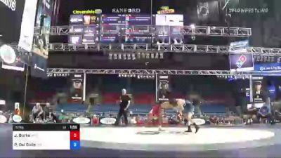 57 kg Rr Rnd 2 - Jakason Burks, MWC Wrestling Academy vs Peter Del Gallo, Maine Trappers