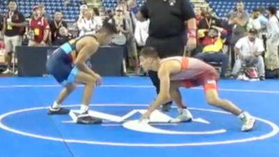 132 lbs Quarterfinal - Nic Bouzakis, Pennsylvania vs Emilio Ysaguirre, Jr., Arizona