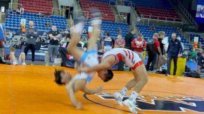 138 lbs Quarterfinal - Joel Adams, Nebraska vs Noah Manuel Tapia, Illinois
