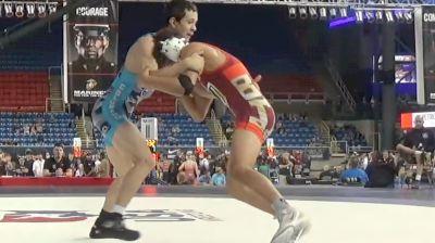 132 lbs Semifinal - Gabriel Delgado, Nevada vs Dmitri Alarcon, Colorado