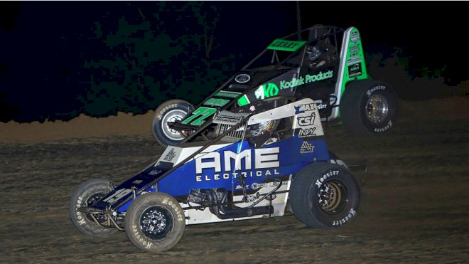 Thorson Thrills in Drama-Filled USAC Race