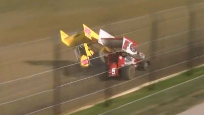 Heavy Contact Between the Leaders During ASCS Sprint Week at Tulsa