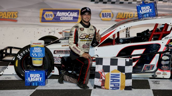 Chase Dowling Wins Bud Light Open Modified 80 At Stafford Speedway