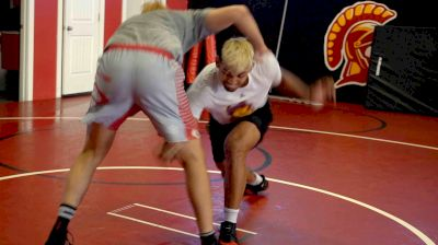 Cael And Zahid Valencia Play Wrestle From A Crack Back Position