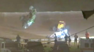 Briggs Danner Flips Wildly After Last Lap Pass at Selinsgrove