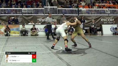 174 lbs Final - Jordan Kutler, Lehigh vs Spencer Carey, Navy