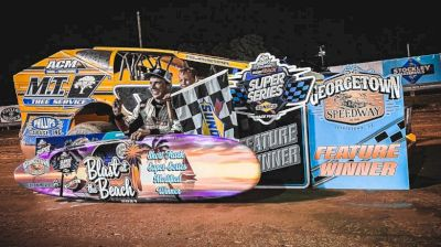 Billy Pauch Jr. Leaves Georgetown Speedway With Surf Board