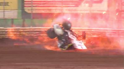 Zeb Wise Walks Away From Huge, Fiery Crash At BAPS Motor Speedway