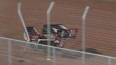 JJ Grasso Hard Frontstretch Crash at BAPS Motor Speedway