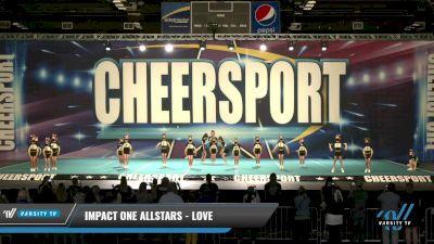 IMPACT ONE Allstars - LOVE [2021 L1.1 Mini - PREP Day 1] 2021 CHEERSPORT: Charlotte Grand Championship