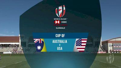 Australia 7s vs USA 7s Cup Quarter Finals   2018 HSBC Women's 7s Colorado