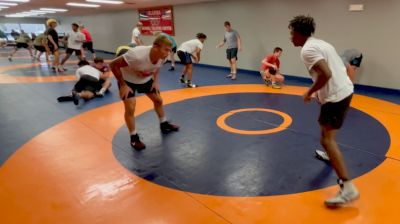 Rocco Welsh and KJ Evans drilling at the Oklahoma RTC